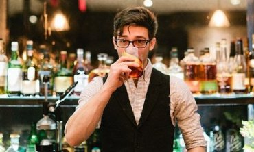 bartender drinking